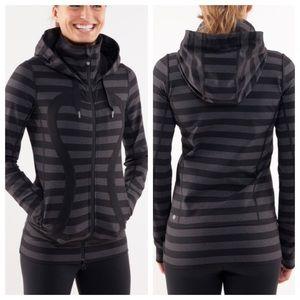 Lululemon stride jacket micro macro stripe